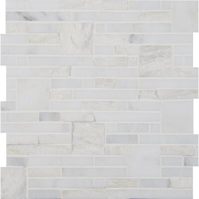 Greecian White Random Sized Marble Mosiac Tile in White