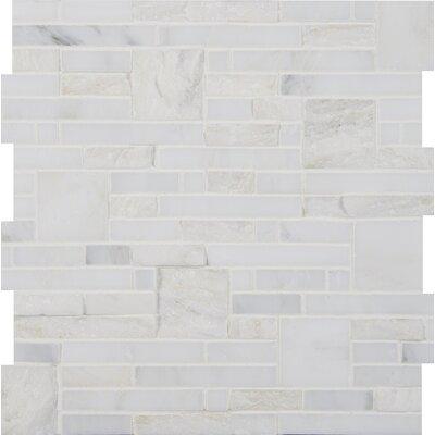 Greecian White Random Sized Marble Mosiac Tile in White