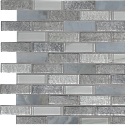 Lupano Glass/Stone Mosaic Tile in Gray