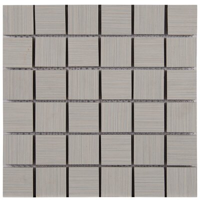 Focus 2 x 2 Porcelain Mosaic Tile in Gray
