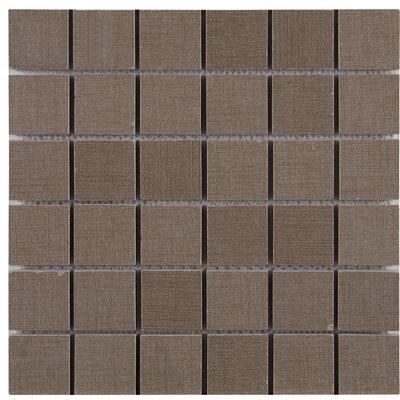 Loft 2 x 2 Porcelain Mosaic Tile in Gray