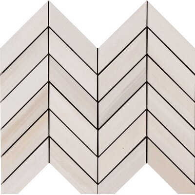 Watercolor Bianco  12 x 15 Porcelain Mosaic Tile in White