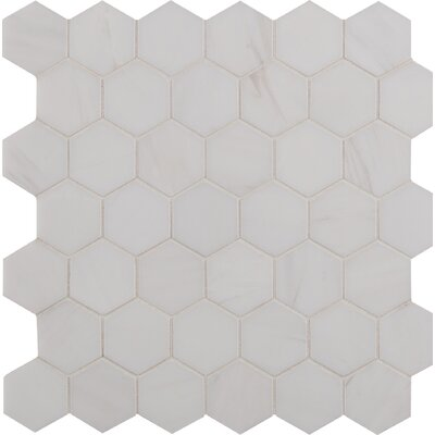 Bianco Dolomite 2 x 2 Marble Mosaic Tile in White