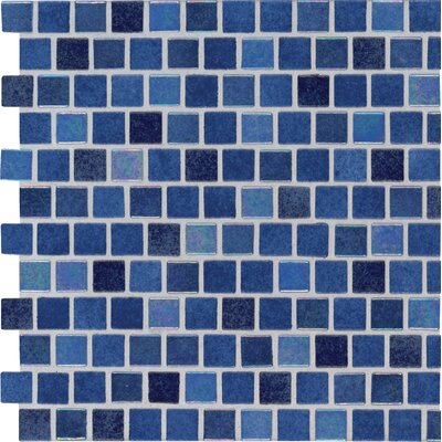 Hawaiian 0.5 x 0.5 Glass Mosaic Tile in Blue
