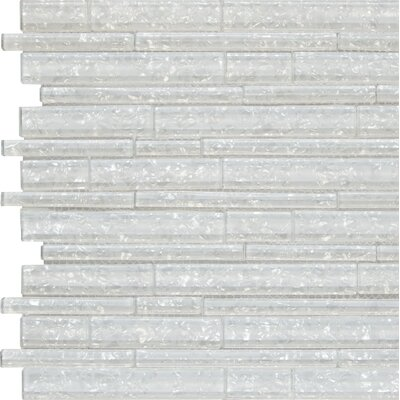 Akoya Random Sized Glass Mosaic Tile in White