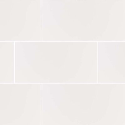Dymo 12 x 24 Ceramic Field Tile in White