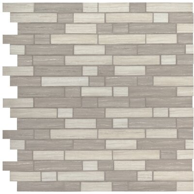 Silva Random Sized Glass Mosaic Tile in Gray