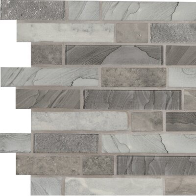 Tarvos Random Sized Glass Mosaic Tile in Gray