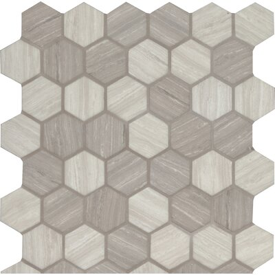 Silva 2 x 2 Glass Mosaic Tile in Gray
