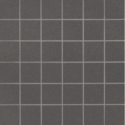 Optima Graphite Mesh-Mounted 2 x 2 Porcelain Mosaic Tile in Gray