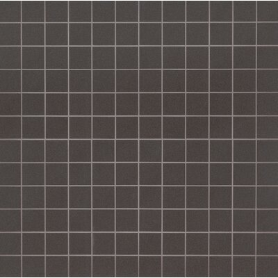 Optima Graphite Mesh-Mounted 2 x 2 Polished Porcelain Fiel Tile in Gray
