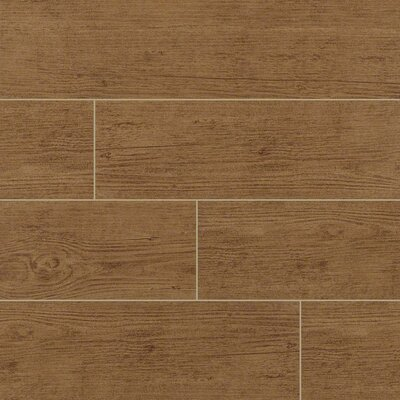 Sonoma Palm 6 x 24 Ceramic Wood Tile in Tan