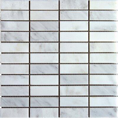 Arabescato Carrara 1 x 3 Marble Mosaic Tile