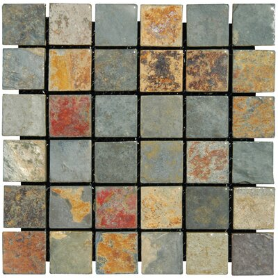 California 2 x 2 Slate Mosaic Tile in Multi