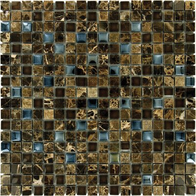 Emperador 0.625 x 0.625 Glass Mosaic Tile in Dark Blend