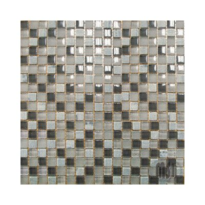 0.625 x 0.625 Glass Mosaic Tile in Arctic Cloud