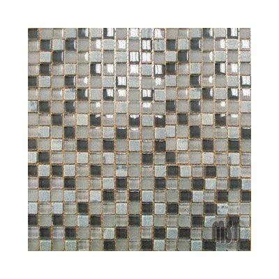 0.625 x 0.625 Glass Mosaic Tile in Arctic Cloud