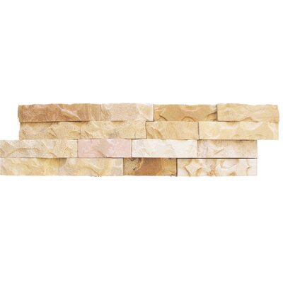 6 x 24 Sandstone Splitface Tile in Beige (Set of 5)