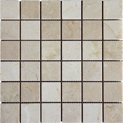 "2"" x 2"" Polished Marble Tile in Crema Marfil"