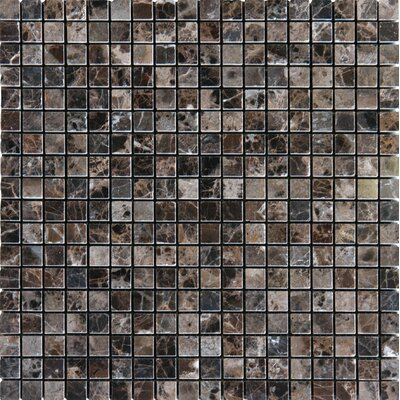 "5/8"" x 5/8"" Polished Marble Tile in Emperador Dark"