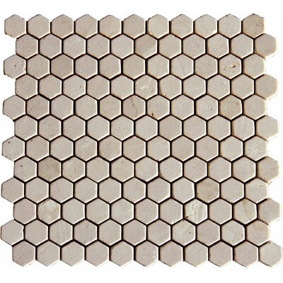 1 x 1 Marble Mosaic Tile in Unpolished Beige