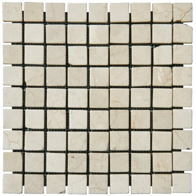 Crema Marfil 1 x 1 Marble Mosaic Tile in Beige