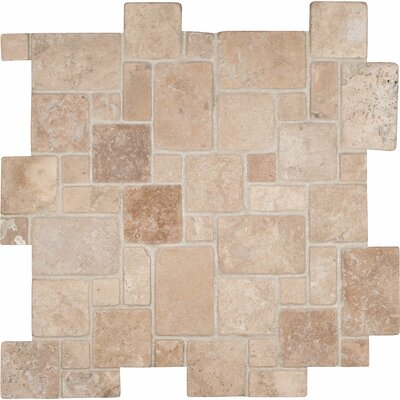 Durango Random Sized Travertine Mosaic Tile