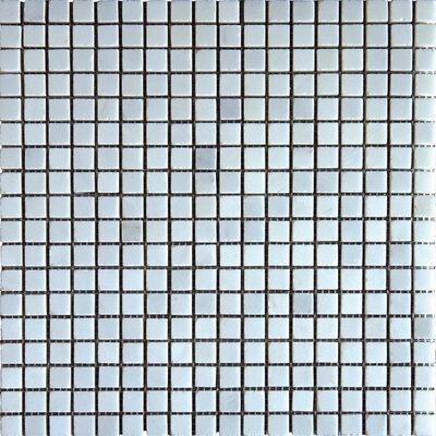 0.625 x 0.625 Marble Mosaic Tile in Arabescato Carrara