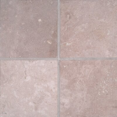 Durango 6 x 6 Travertine Field Tile in Honed Beige