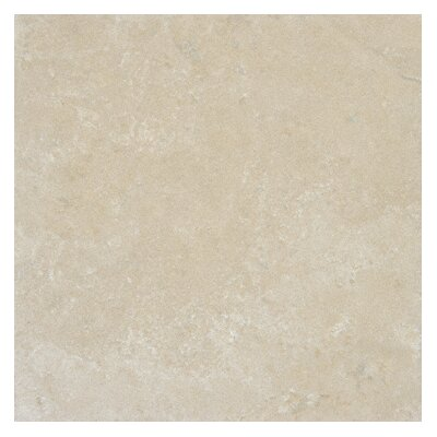 Tuscany Platinum 18 x 18 Travertine Field Tile in Honed Beige