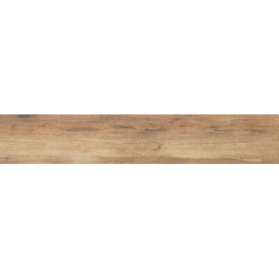 Botanica Cashew 6 x 36 Porcelain Wood Tile in Glazed Textured