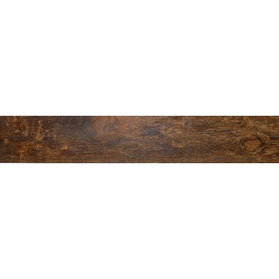Redwood Mahogany 6 x 36 Porcelain Wood Tile in Glazed Textured