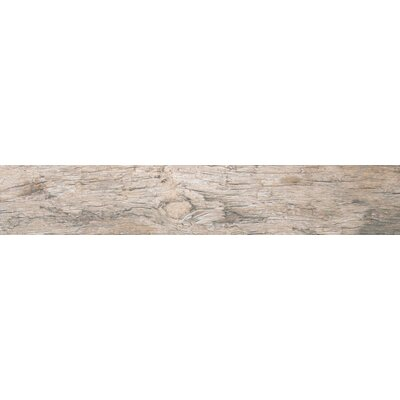 Redwood Natural 6 x 24 Porcelain Wood Tile in Glazed Textured