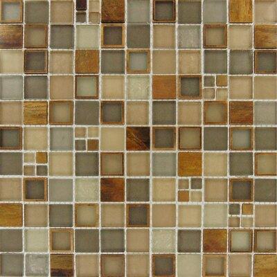 Metallic mosaic tile backsplash