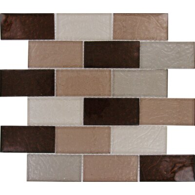 Ayres Mounted 2 x 4 Glass Subway Tile in Multi