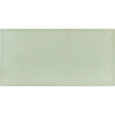 Arctic Ice 3 x 6 Glass Wall Tile in White