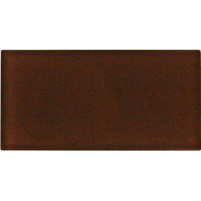 Cinnamon 3 x 6 Glass Field Tile in Caramel