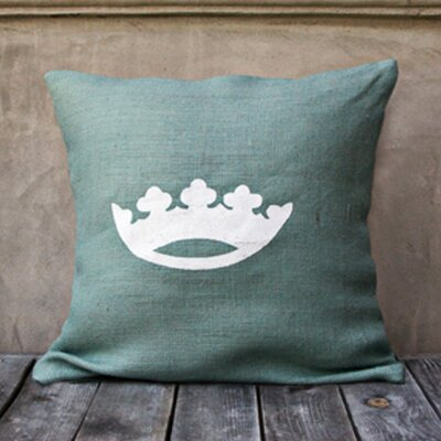 Crown Throw Pillow Color: Spa Blue/White