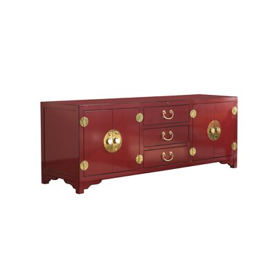 Studio Designs Pacific Isle 75 TV Stand Color: Red
