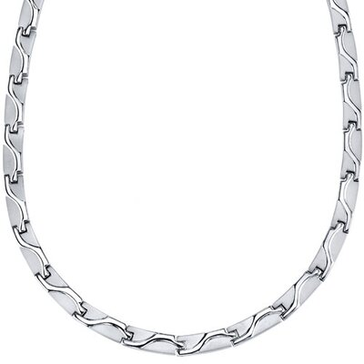 Oravo Rugged Appeal Titanium Mens Wave Pattern Flat Link 20 inch Chain Necklace at Sears.com