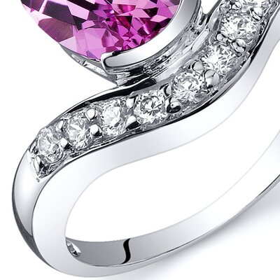 Oravo Channel Set 2.75 carats Diamond CZ Ring in Sterling Silver - Size: 9, Color: Pink Sapphire at Sears.com