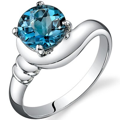 Oravo Smooth Seduction 1.75 carats Solitaire Ring in Sterling Silver - Size: 8, Color: London Blue Topaz at Sears.com