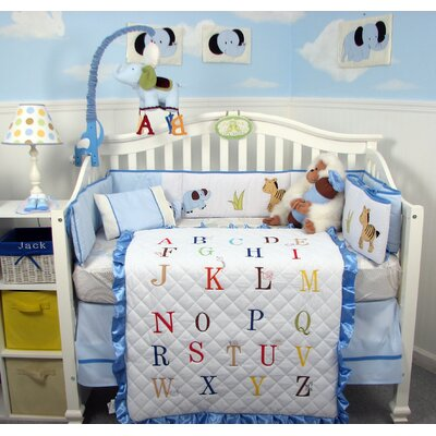 Baby  Crib Bedding Sets on Piece A Z Alphabet Baby Boy Crib Nursery Bedding Set   Boyalphabet