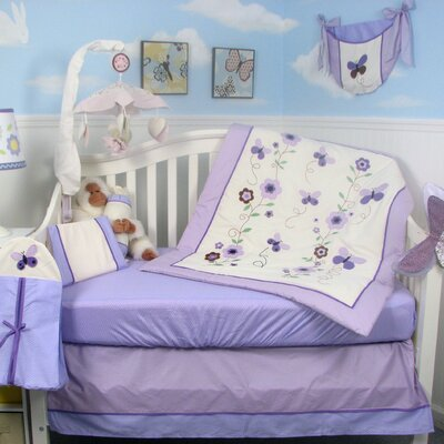 Soho Designs Lavender Flower Garden Baby 14 Piece Crib Nursery Bedding Set at Sears.com