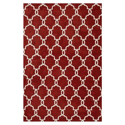 Dane Rust/Ivory Area Rug Rug Size: Rectangle 76 x 96