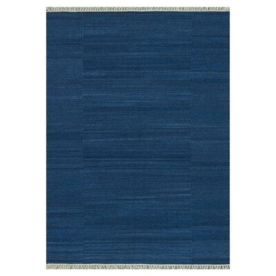 Anzio Hand-Woven Blue Area Rug Rug Size: 79 x 99