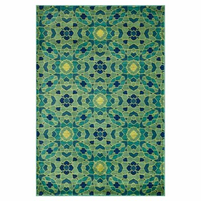 Madeline Green Area Rug Rug Size: 52 x 77