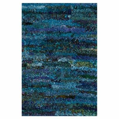 Eliza Shag Hand-Woven Ocean Area Rug Rug Size: 23 x 39