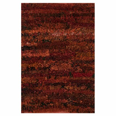 Eliza Shag Hand-Woven Paprika Area Rug Rug Size: Rectangle 3 x 5
