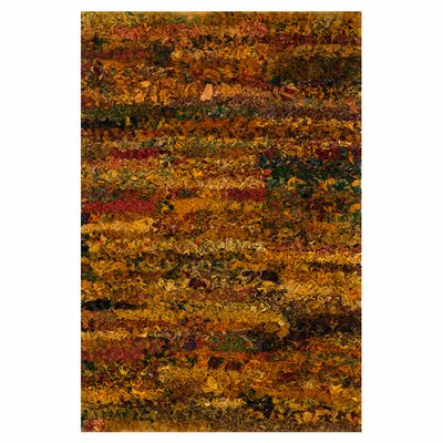 Eliza Shag Hand-Woven Apricot Area Rug Rug Size: Rectangle 23 x 39